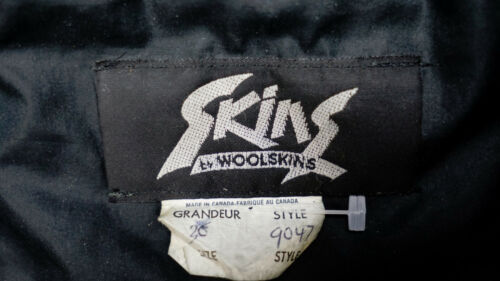 SKINS Perfecto Biker Motorrad Lederjacke Schwarz 44 S