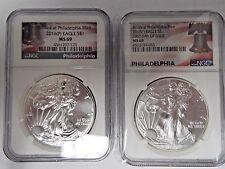 2017- Silver Eagle Struck Philadelphia Mint NGC MS69 ER Liberty Bell SKU47237 P