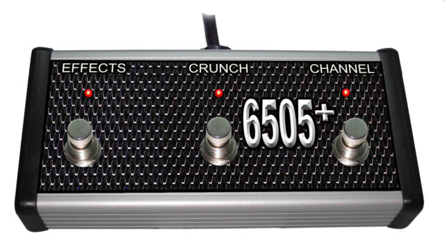 CR® CUSTOM FOOTSWITCH FOR PEAVEY 6505 HEAD /& COMBO AMPLIFIERS HANDWIRED USA NEW