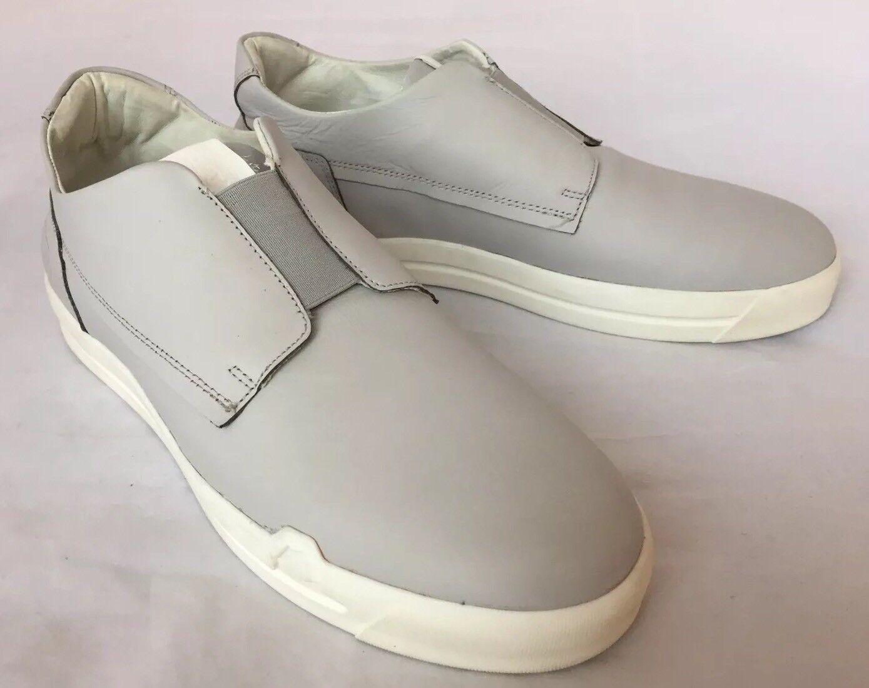 New Pajar Snkrprjct Men's Leather Slides Sneakers Grey 10