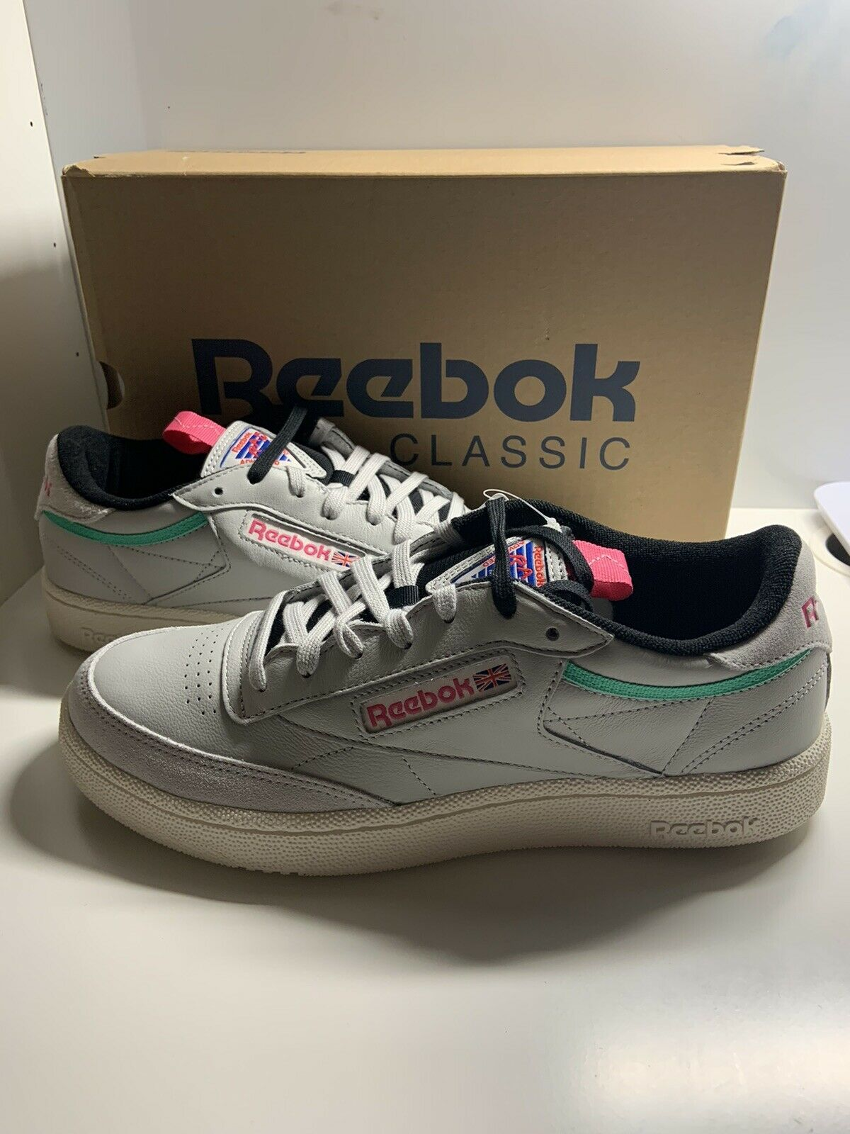 reebok club c men's athletic shoes