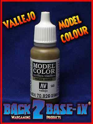 German Cam Medium Brown acrylic paint # 826 Vallejo 17ml Model Color