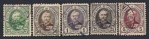 LUSSEMBURGO-1891-ADOLFO-n-59-68-USATI-125