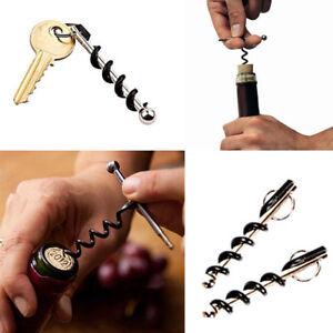 1-5XMini-Red-Wine-Bottle-Cap-Opener-Corkscrew-Beer-Keychain-Keyring-Camping-Tool