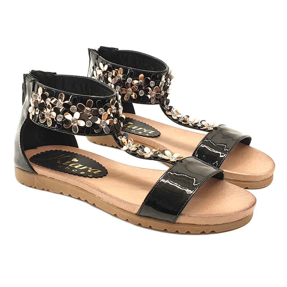 Sandalen Damen Komfortabel Nummer 35 Eu - Kc11 Schwarz