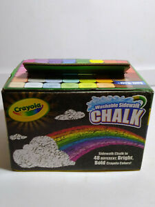 crayola washable sidewalk chalk in assorted bright bold