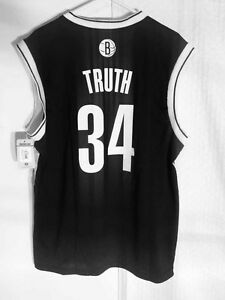 size 40 4ad90 aa2ab Details about Adidas NBA Jersey Nets Paul Pierce Black Nickname sz L