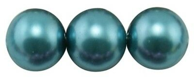 20 perles nacrées Renaissance 10 mm bleu vert