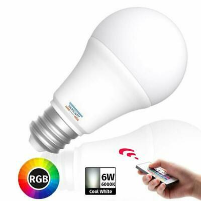 1//2X E27 10W LED Light Bulb Edison Screw RGB+Cool White Dimmable 16 Colour tw