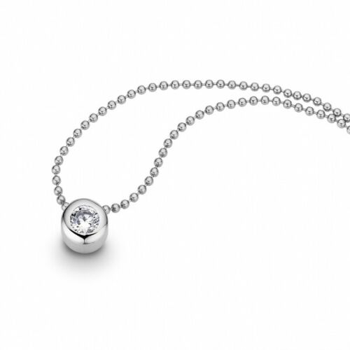 Cem Collier señora bala-cadena joyas de acero inoxidable circonita plata-de colores st6-002