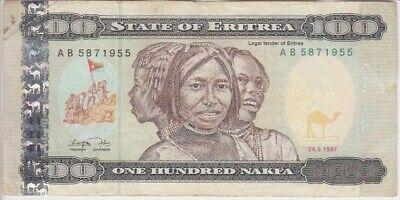 Eritrea Banknote P6 100 Nakfa 1997 Prefix AC VF+