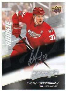 2017-18-Upper-Deck-MVP-Hockey-Silver-Script-RC-234-Evgeny-Svechnikov-Red-Wings