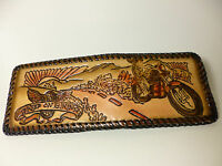 North Star Keep On Bikin' Leather Laced Wallet-made In The Usa-4+ Card Slots
