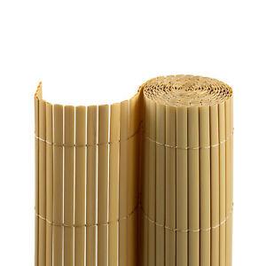 Sichtschutzmatte-180x400-cm-bambus-Windschutz-Sichtschutz-Sichtschutzzaun-B-Ware