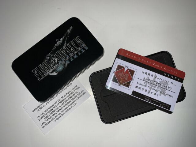 Final Fantasy VII Remake Shinra electric card company COLLECTIBLE CARD & CASE