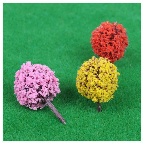15x Simulation Tree Miniature Ball Shaped Tree Model Sand Table Accessory Decor