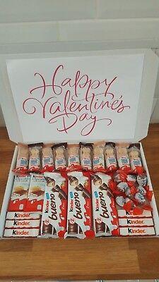 Kinder Chocolate Valentines Day Selection Box Gift Hamper Boyfriend Girlfriend Ebay