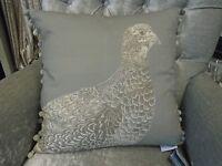 Voyage Maison Game Grouse 50cm X 50cm Feather Filled Cushion - Linen C170148