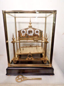 Five-Finial-Congreve-Rolling-Ball-Clock-With-Dome-and-Base