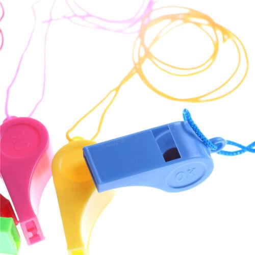 5pcs//lot en plastique sifflet Wanyard enfants Party sac de remplissage