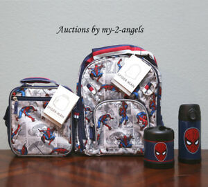 Pottery Barn Kid Allover Spiderman Small Backpack Lunch