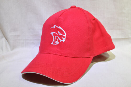 Rouge Réglable Casquette Réglable Chapeau Avec Brodé Blanc DODGE SRT Hellcat Logo
