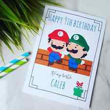 SUPER MARIO Personalised Birthday CardSon Daughter Brother Sister Nephew