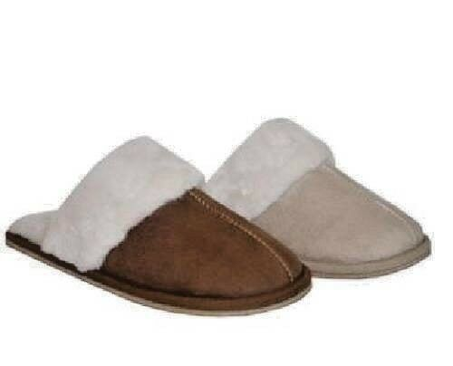 Donna Lusso Pelliccia Foderato In Pile Caldi Comodi Pantofole Suole Rigida