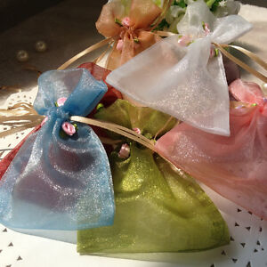 Image Is Loading Rose Organza Wedding Favour Bags Bo Table Decoraion