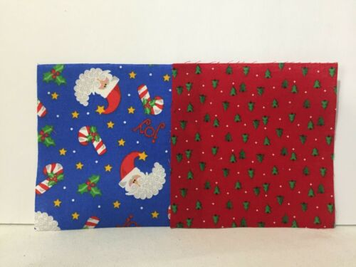 24 PC 5 Inch Quilting Fabric Charm Pack 12 Squares of 2 Designs Rotary Cut 5FS85