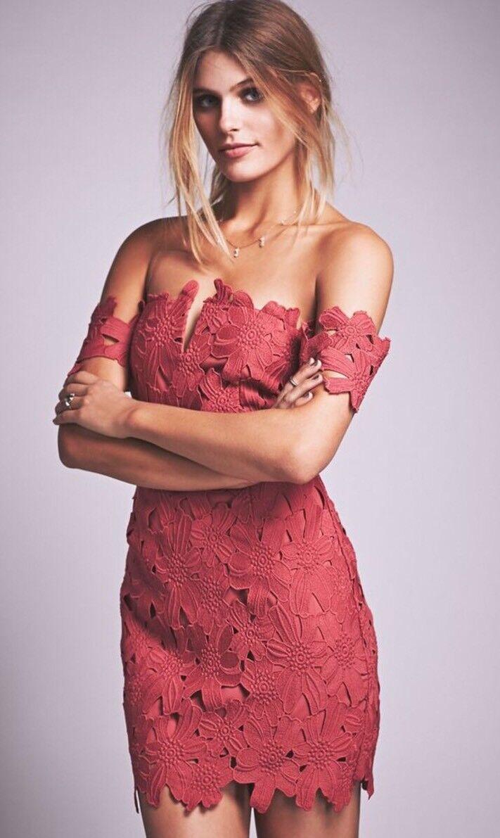 Free People X Saylor Dahlia Dress Raspberry Pink Red Medium
