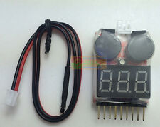 Update AOK 5IN1 Connector Cable Tester Low Voltage Alarm Meter for Lipo Battery