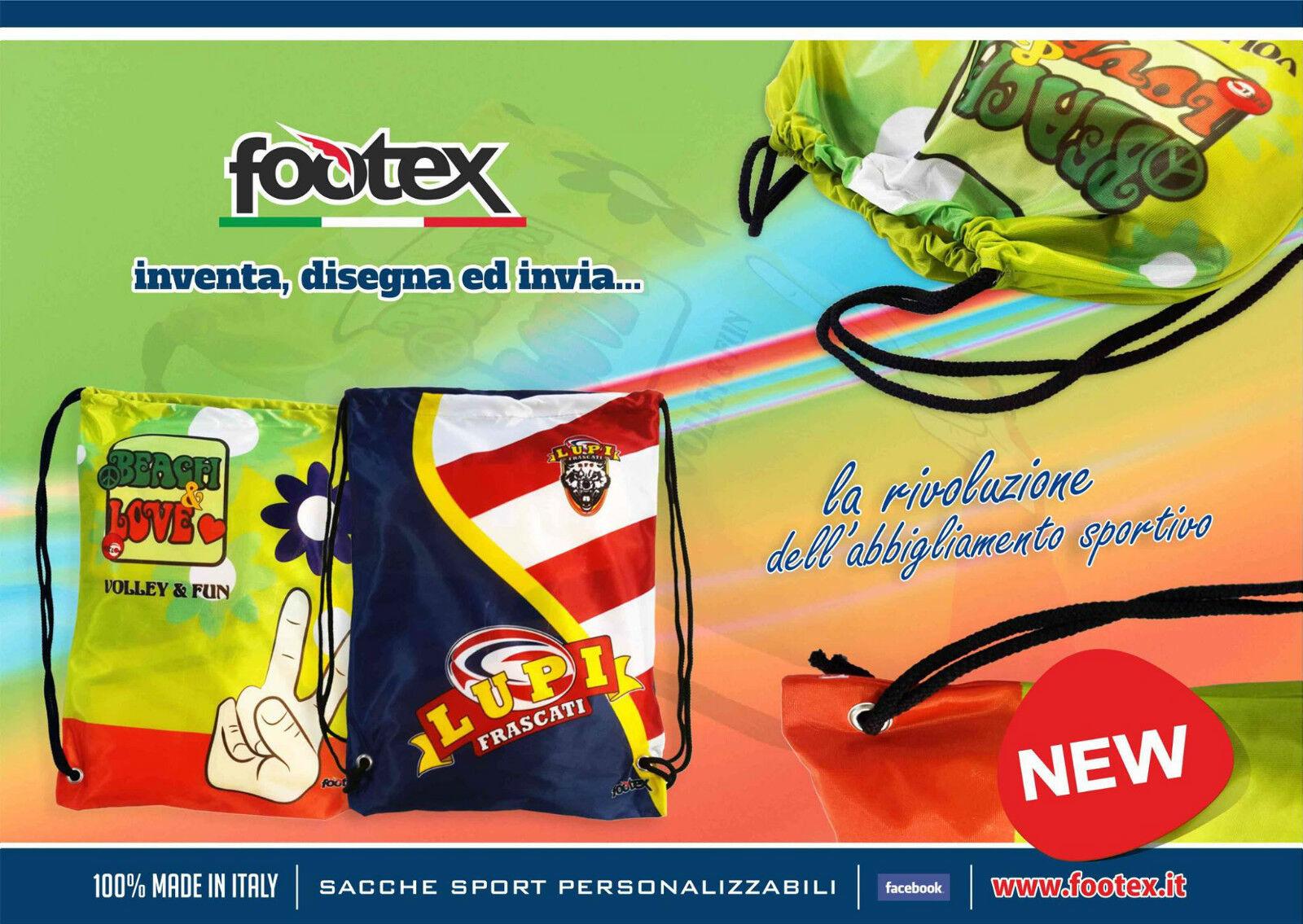 10 Sacche Personalizzate Portascarpe Sport Scuole Calcio Basket Volley