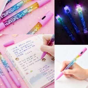 Creative-Kids-Gifts-Stationery-Liquid-Quicksand-Magic-Glitter-Black-Ink-Gel-Pen