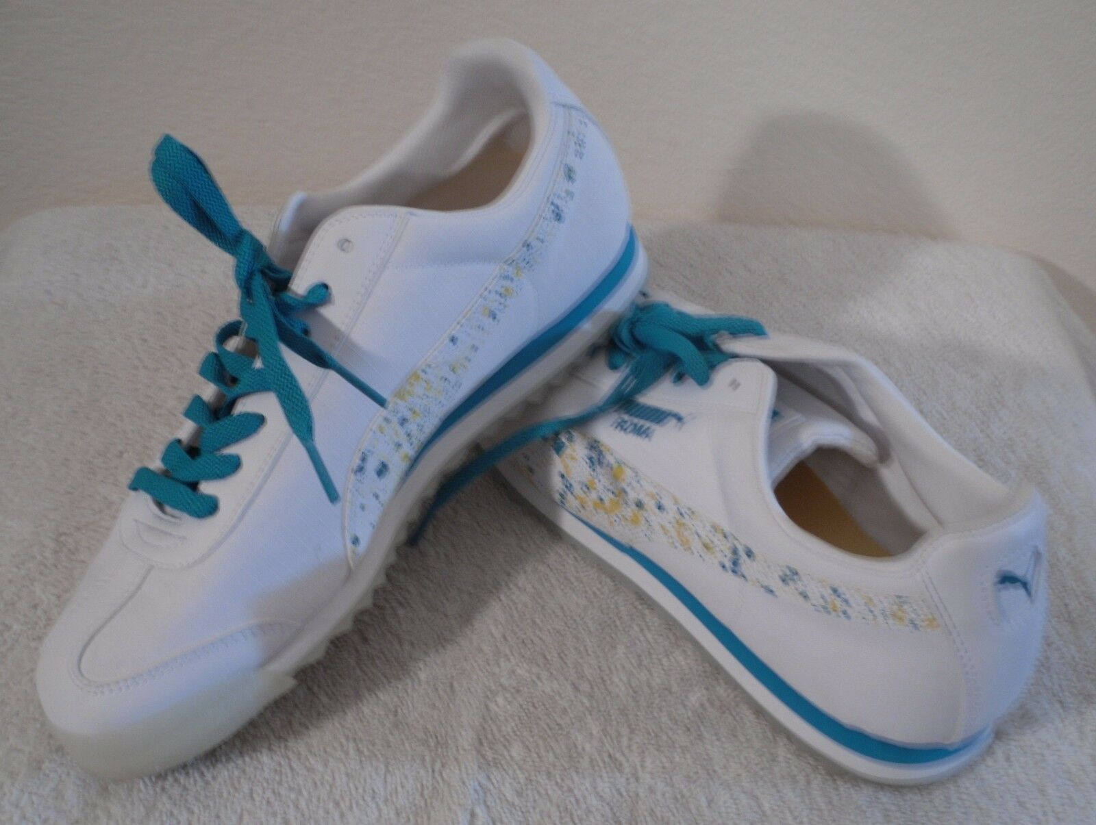 NEW PUMA Roma Ripstop Clear Womens Sneakers shoes 10.5 White Capri Breeze  80