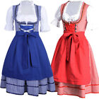 US 3 In1 German Oktoberfest Bavarian Dirndl Maid Beer Wench Dress Costume Party