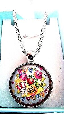 SHOPKINS STRAWBERRY KISS NECKLACE 20 INCH 7 TO 10 YEARS GIFT BOX PARTY BIRTHDAY