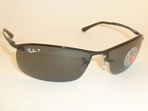 e48311f1ba2 New RAY BAN Sunglasses Black Frame RB 3183 002 81 Smoke Polarized ...
