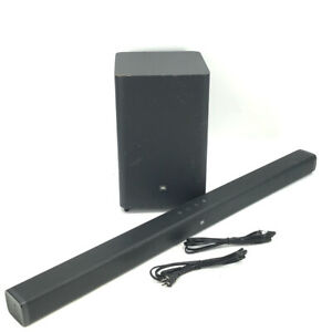 JBL Bar 2.1 Soundbar und Wireless Subwoofer-Schwarz #au3261