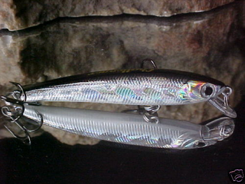 Challenger MICRO Minnow JL-034F034 SILVER BLACK Back Trout//Bass//Crappie//Panfish