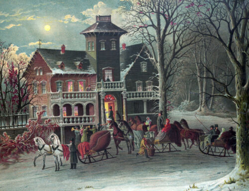 3272 Vintage Poster.Powerful Graphic Design.Muisic Horse.Winter house Art Decor