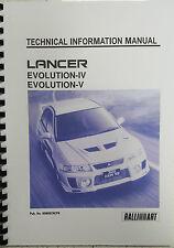 MITSUBISHI LANCER EVO IV / V TECHNICAL INFORMATION MANUAL REPRINTED