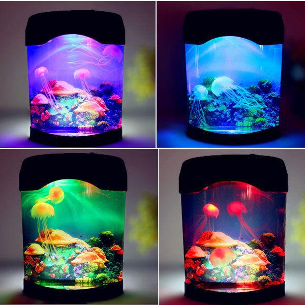 Creative Jellyfish Colored World Sea 2903u Led Lamp Swimming Mood Tank Multi 8k0OPwn