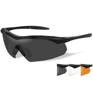 64feceb62948 Wiley X WX Vapor Interchangeable 3 Lens Sunglasses Matte Black Frame 3502
