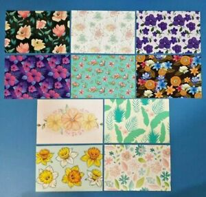 Set-of-10-NEW-Floral-Pattern-Postcards-for-Postcrossing-amp-Postcardsofkindness
