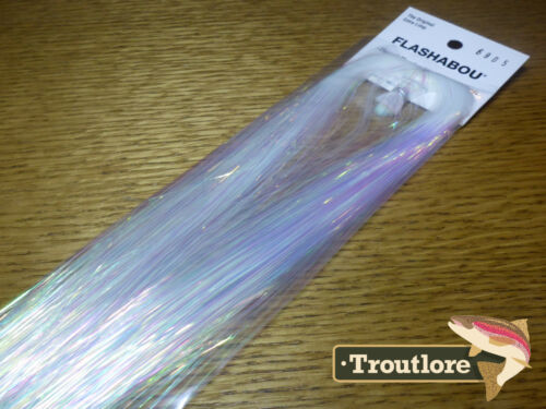HEDRON FLASHABOU PEARL NEW STREAMER FLY TYING FLASH MATERIALS