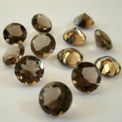 Natural Smoky Quartz  Loose Gemstone Wholesale Lot of 5x5mm Round Faceted Cut