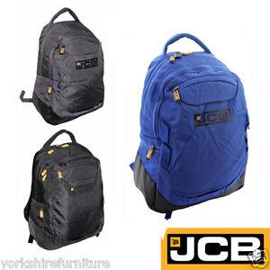 d07340caefc1 Image is loading JCB-RUCKSACK-BLACK-BACKPACK-STRONG-OUTDOORS-HIKING-BIG-