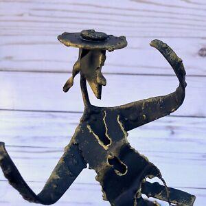 Vintage-Hasidic-Man-Dancing-Brutalist-Sculpture-Hebrew-Israel-Jewish-Judaica-Art
