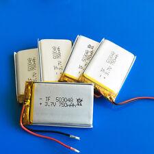 5pcs 3.7v 750mAh 503048 Lipo Battery for MP3 DVD GPS Camera Recorder Speaker PSP